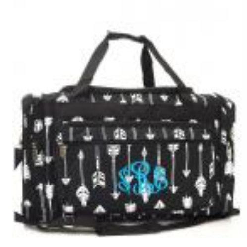 BLACK ARROW WEEKENDER BAG *DOES NOT HAVE MONOGRAM * #477