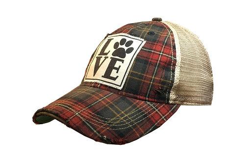 """LOVE"" PAW BASEBALL STYLE CAP HAT #167"