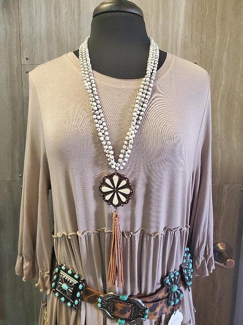 Western style BOHO CHIC flower necklace