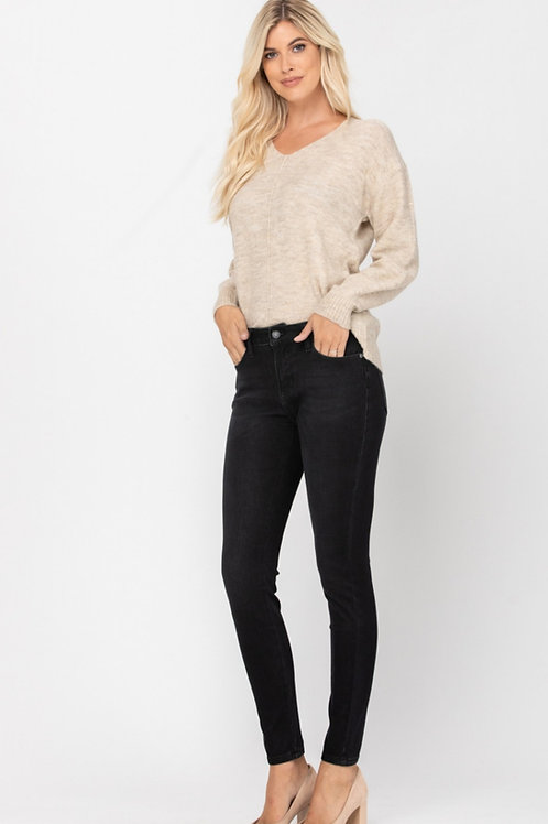 JUDY BLUE BLACK SUPER STRETCHY SKINNY JEAN #518