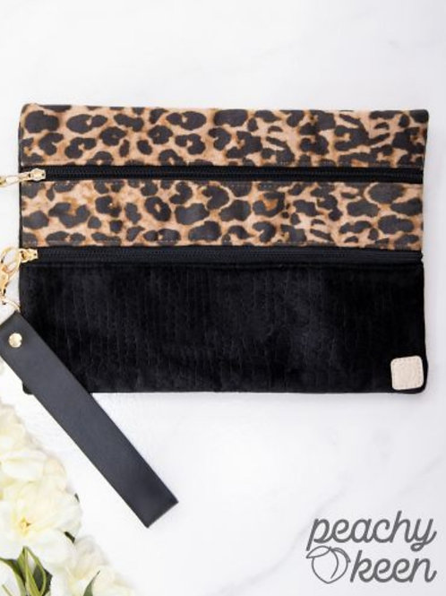 LEOPARD OR BUFFALO PLAID VERSI BAG FOR JEWELRY, MAKEUP ECT. #312