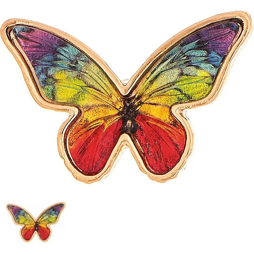 RAIN JEWELRY COLORFUL BUTTERFLY POST EARRINGS #582