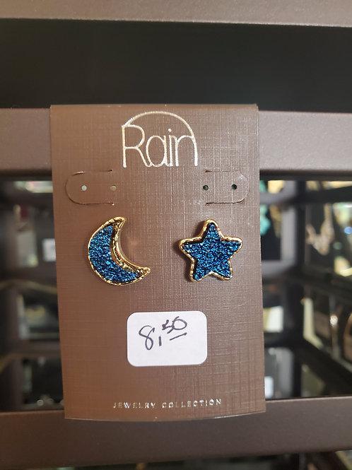 RAIN JEWELRY COLLECTION EARRINGS MOON & STAR