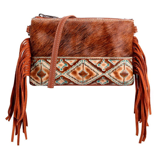 MONTANA WEST HAIR-ON COWHIDE LEATHER CLUTCH CROSSBODY PURSE #264