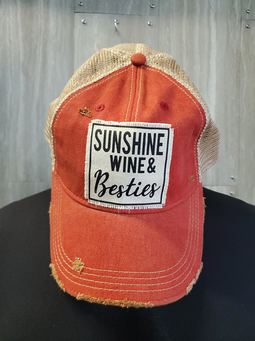SUNSHINE WINE & BESTIES BASEBALL CAP HAT #172