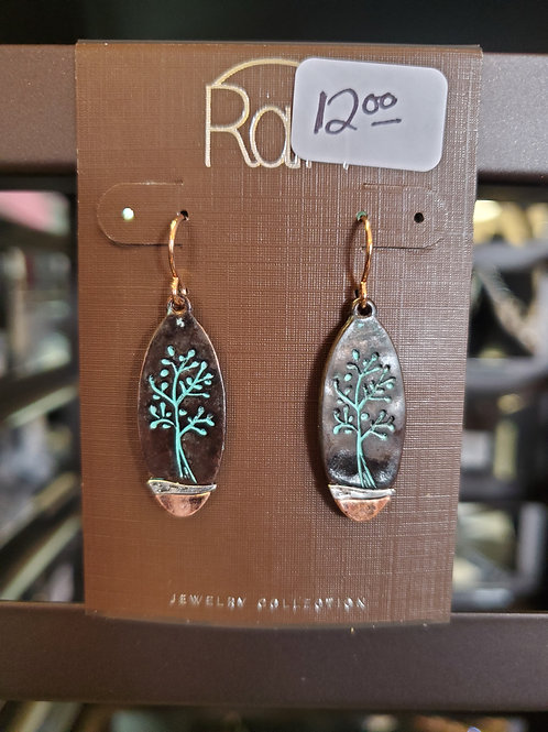 RAIN JEWELRY COLLECTION EARRINGS MULTI TREE