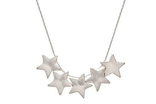 RAIN JEWELRY SILVER STAR SHORT NECKLACE #574