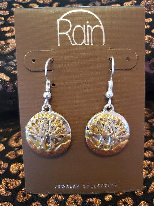 RAIN JEWELRY LAYERED TREE MULTI METAL EARRINGS #376