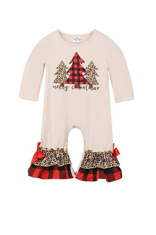 INFANT LEOPARD CHRISTMAS ROMPER SIZES 0 TO 24 MONTHS AVAILABLE #463
