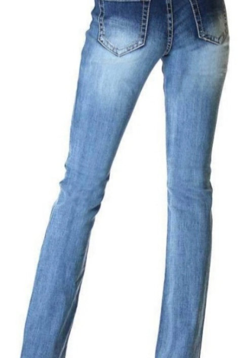 GRACE IN LA EASY FIT BASIC MID WASH BOOT CUT JEANS #659