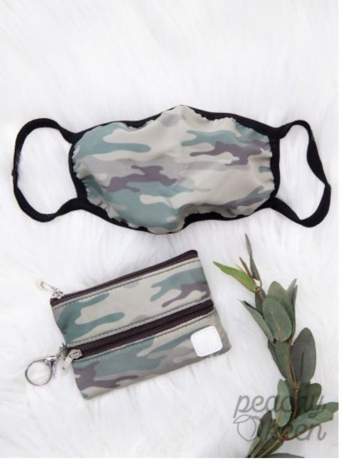 CAMO PRINT FACE MASKS WITH VERSI BAG! #304