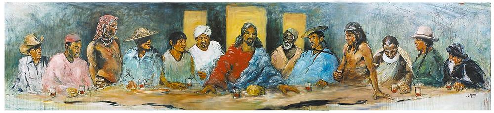 """""""The Last Supper"""" as interpreted by Hyatt Moore."""