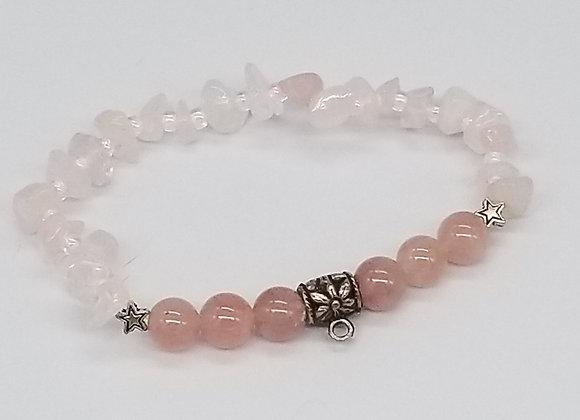 Rose Quartz Bracelet - Heart Chakra