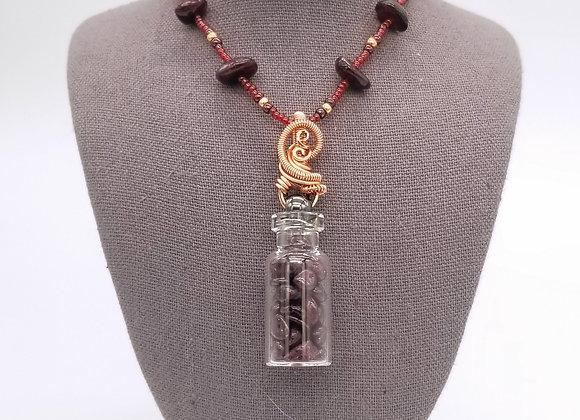 Ornate Garnet Alchemy Vial