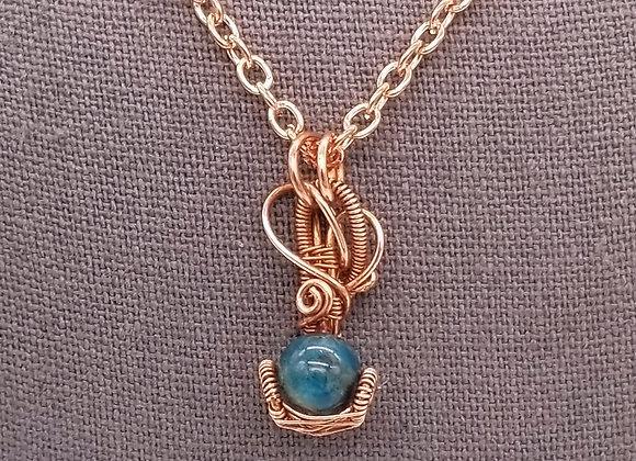Apatite Bead Necklace