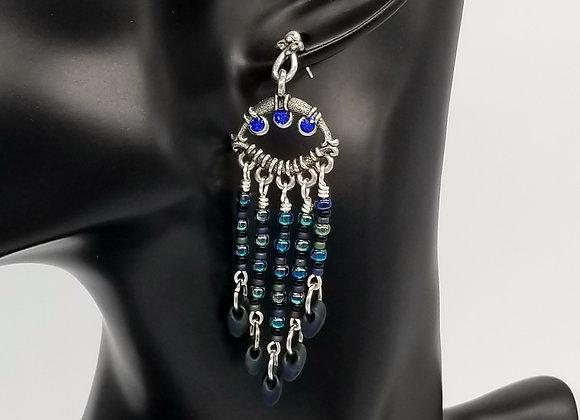 Crystal Waterfall Stud Earrings