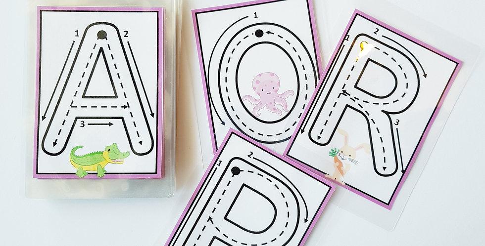 Multilingual Big Letter Formation Cards in Nine Languages