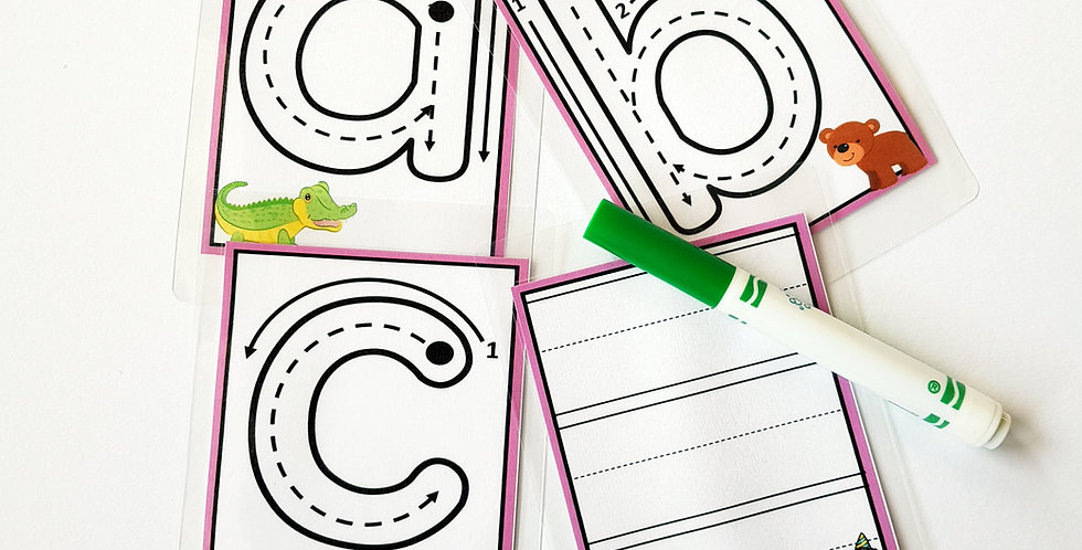 Multilingual Lowercase Letter Formation Cards (English)