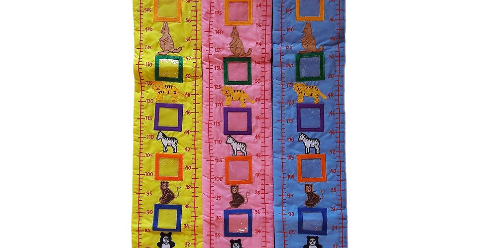 K&Me's Kinder Wachstum Wall Chart aus baumwolle / Fabric Growth Chart