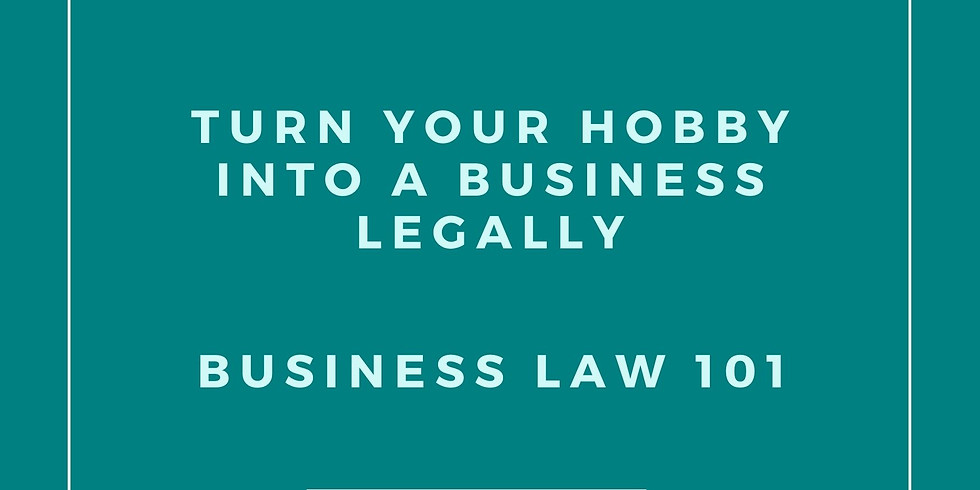 Turning your Hobby into a Business Legally