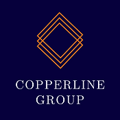 The Copperline Group logo - 3 diamonds for our service pillars of Coaching, Training, and Consulting