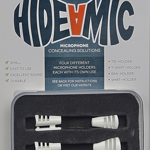 hide a mic cos microphone concealers webshop hide a mic cos11 set 4 different holders white
