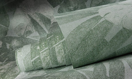 Tapet Flamant Memoires cluj, tapet cu flori verde inchis,tapet cu motive vegetale, magazin tapet cluj.jpg