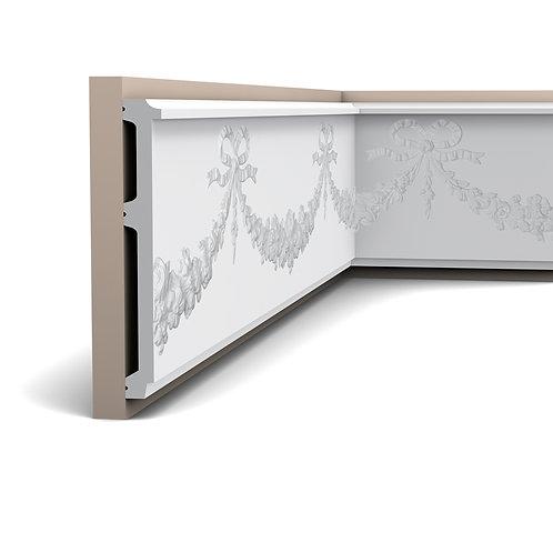 panou decorativ clasic cu ghirlande si fundite ,panou decorativ p7080,profil perete 22 cm H stil clasic , profile orac decor