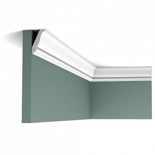 cornisa tavan de 4 cm duropolimer, cornisa tavan stil clasic, cornisa tavan cu curbura in forma de S,profile decorative orac