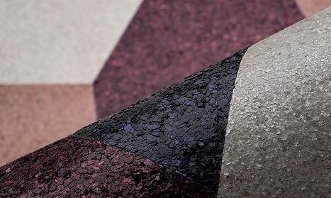tapet artisan cluj , tapet cu mica cluj, tapet negru cu roz si alb, tapet cu materiale naturale cluj, tapet design modern.jpg