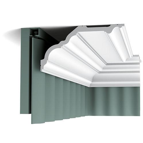 Cornisa tavan stil clasic cu caneluri,cornisa masca perdele stil clasic, cornisa mare orac decor cluj,cornisa pentru tavan