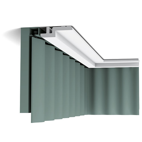 cornisa perdele stil modern,C394 profil tavan stil modern cluj,