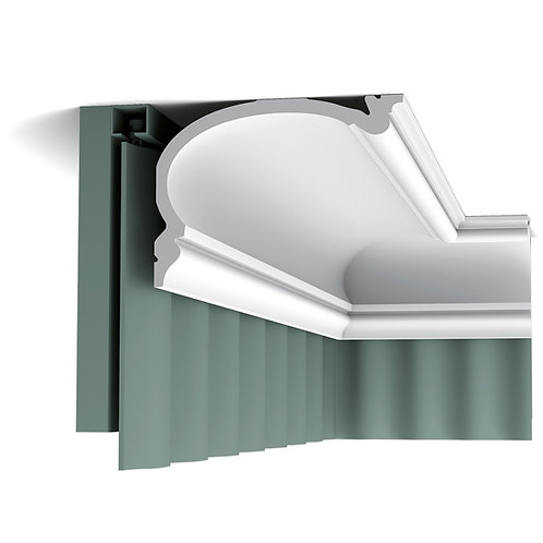 cornisa tavan stil englez 14 cm H, cornisa masca perdele stil clasic, cornisa perdele orac decor cluj,cornisa pentru perdele