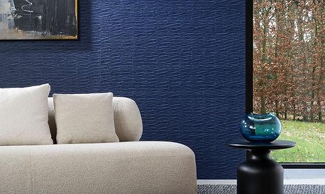 Tapet origami,tapet in relief,tapet albastru inchis,tapet Kami cluj,tapet abstract cluj,tapet stil modern ,tapet interior,tapet texturat cluj.jpg