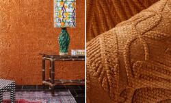 tapet portocaliu cluj , tapet textil por