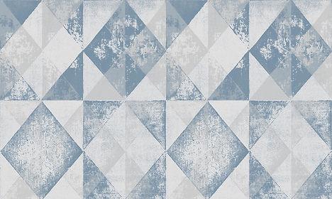 Tapet New Elegance cluj, tapet cu romburi alb cu albastru cluj, tapet stil vintage cluj, magazin tapet cluj.jpg