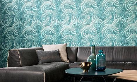 tapet paper craft cluj ,magazin tapet cluj, accent decor cluj, design cu tapet,tapet cu forme geometrice 3d,tapet albastru.jpg