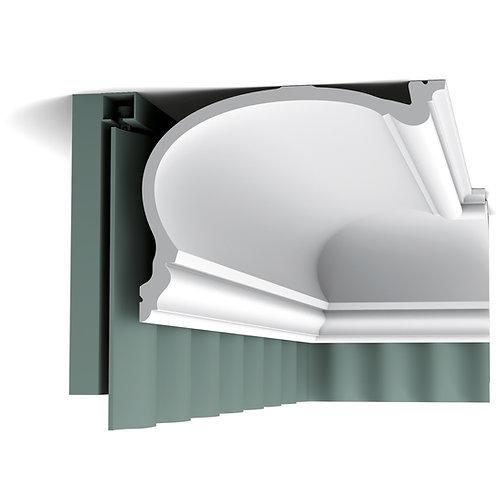 C343 ,cornisa masca perdele ,masca perdele 19 cm inaltime,cornisa in stil clasic pentru mascarea perdelelor,cornisa tavan