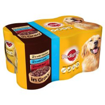 Pedigree Can Chunks in Gravy 6 Pack, 400g