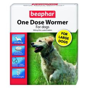 Beaphar One Dose Wormer for Dogs,large