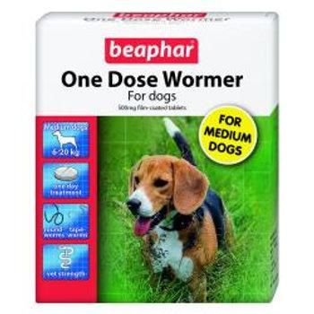 Beaphar One Dose Wormer Medium Dog