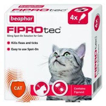 Beaphar FIPROtec Spot On Cat 4 pipette, 4tmnt