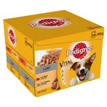 Pedigree Pouch Mixed Chunks 24 pack, 100g