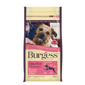 Burgess Sensitive Adult Dog Salmon & Rice, 2kg