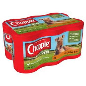 Chappie Chicken & Rice 6 Pack, 412g