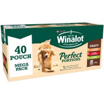 Winalot Perfect Portions Pouch Mixed Chunks in Gravy 40pk