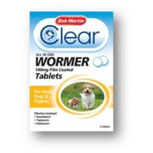 Bob Martin Clear All in One Wormer Tablets - Small Dog, 100mg