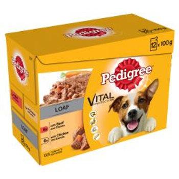 PEDIGREE Dog Pouches Mixed Varieties 12 x 100g
