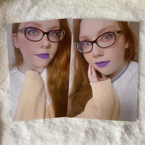Lilac Casual Print Set