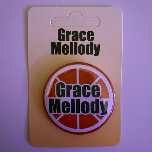 Grace Mellody Logo Button Badge